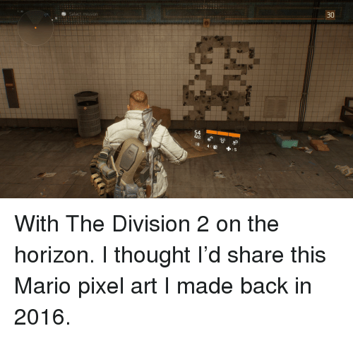 30 Select Mission 133 54 422 08 The Division Meme On Me Me
