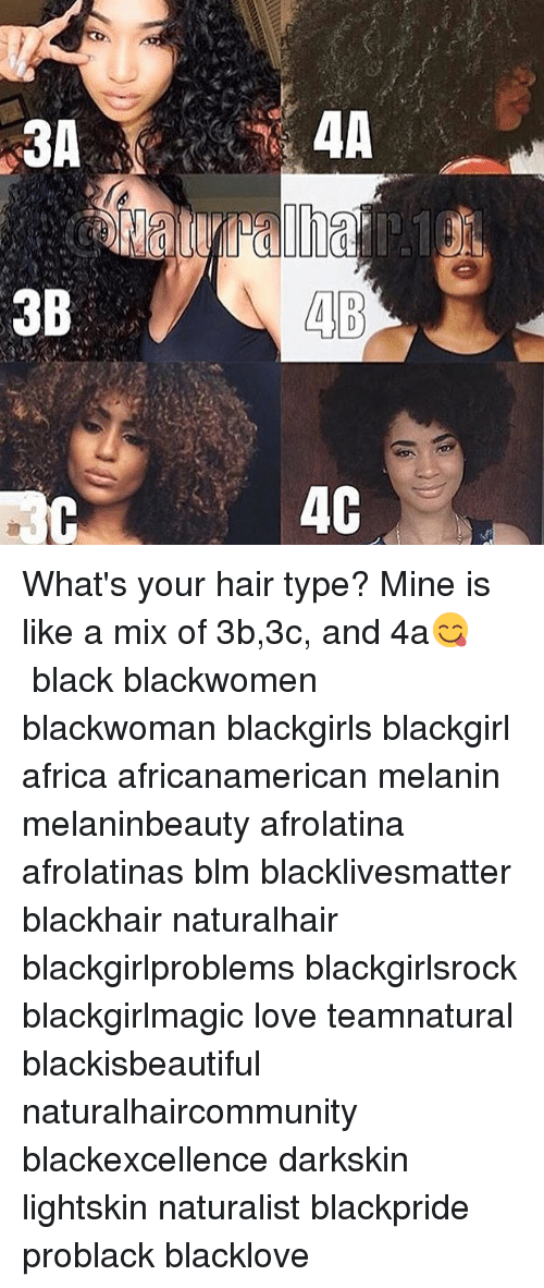 3b 4b 4c What S Your Hair Type Mine Is Like A Mix Of 3b3c And 4a