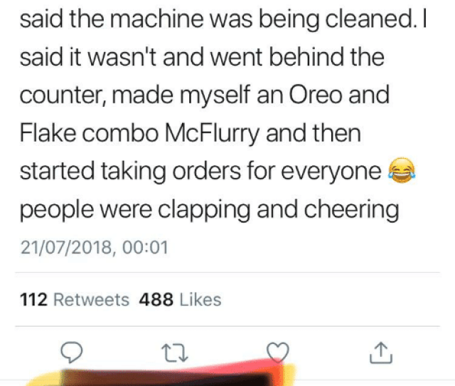 Mcdonalds Happy And Thathappened  Tweet Ok Just