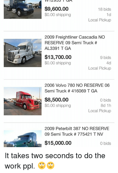 960000 18 Bids 000 Shipping 1d Local Pickup 2009 Freightliner