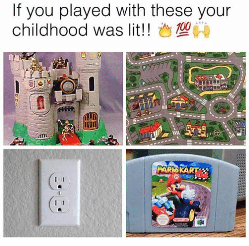 lit mario kart and mario if you played with these your childhood was