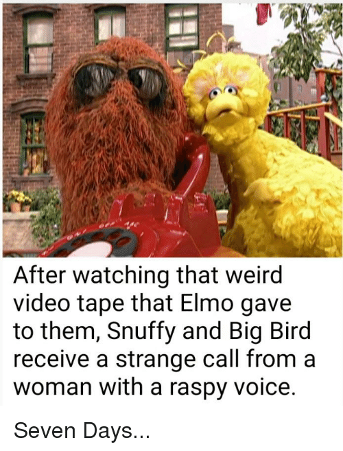 After Watching That Weird Video Tape That Elmo Gave To Them Snuffy