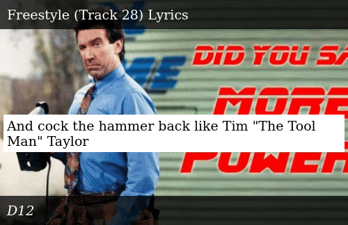 And Cock The Hammer Back Like Tim The Tool Man Taylor Donald