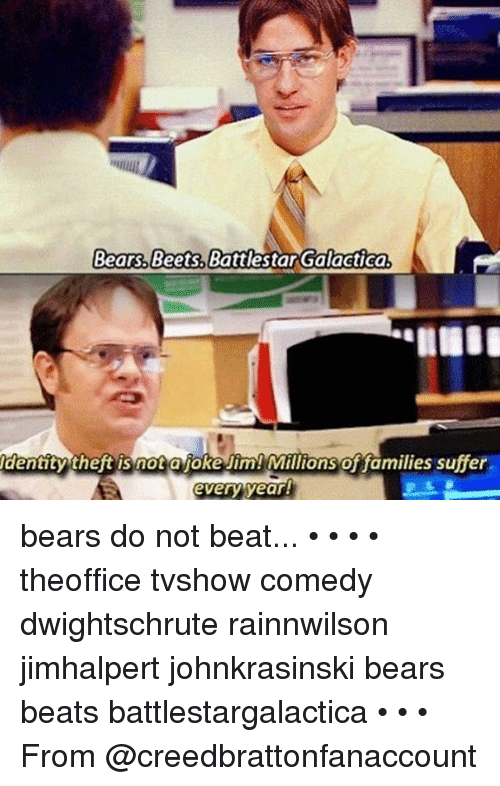 bears beets battlestar galactica dentitytheft is not ajoke jim millions 24967497?resize=500%2C786&ssl=1 bears beets battlestar galactica know your meme the best bear 2018
