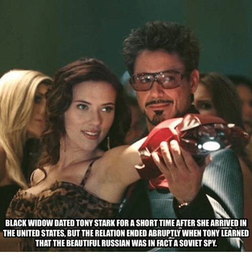 Black Widow Dated Tony Stark For A Short Time After She Arrived In