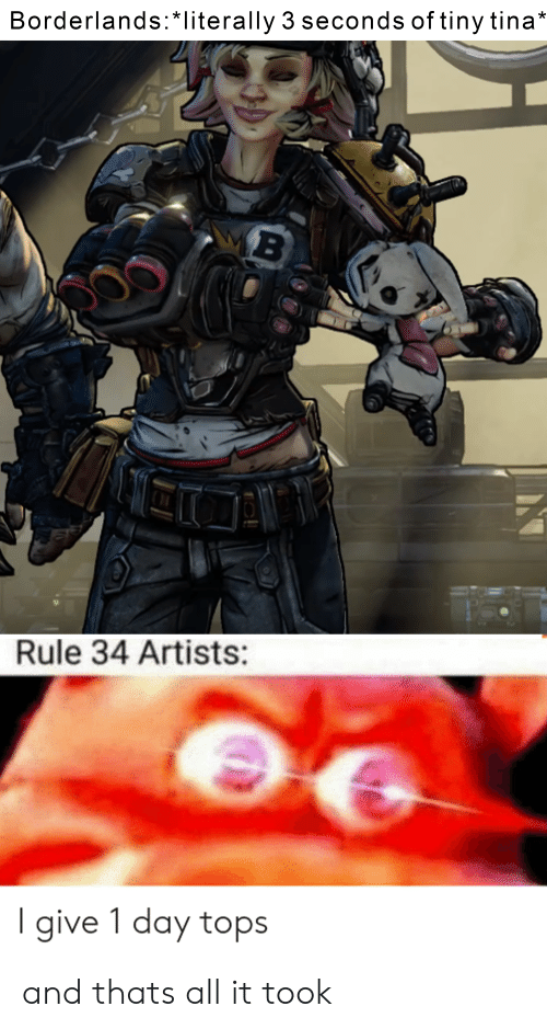 Borderlands Literally 3 Seconds Of Tiny Tina Rule 34 Artists Give
