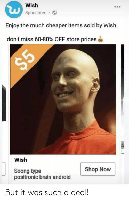 But It Was Such A Deal Star Trek Meme On Me Me