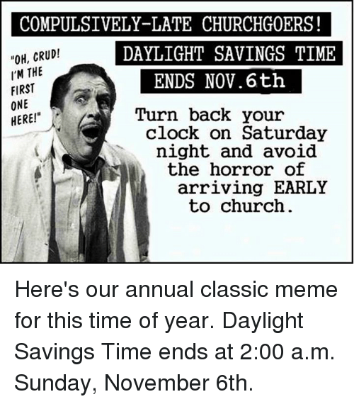 Church And Fall Back 2017 Time Change