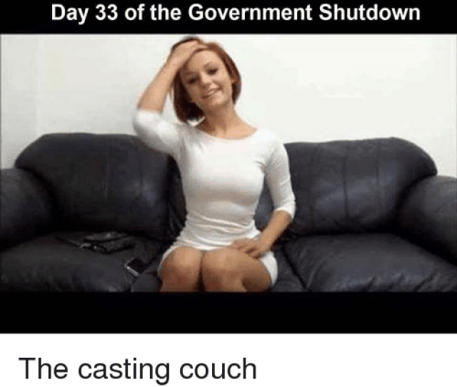 Casting Couch Couch And Government Day 33 Of The Government Shutdowr