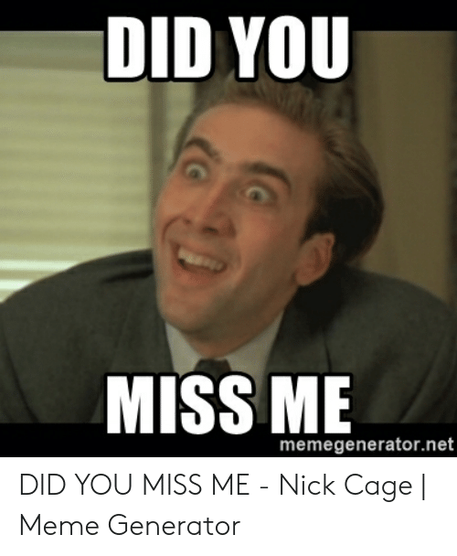 Forgive Me Sister For I Have Sinned Nicholas Cage Meme Generator