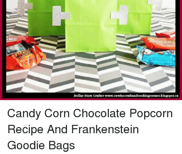Candy Halloween And Memes Dollar Store Crafter Www Cowies Craftandcookingcorner Blogspotca Candy Corn Chocolate Popcorn