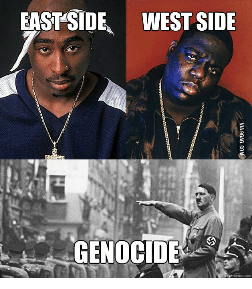 EASTSIDE WESTSIDE GENOCIDE Cool Hitler Meme On Meme