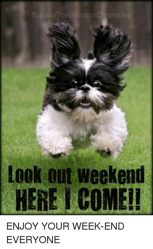 Fbcom The Brunsonchronicles Look Out Weekend Here Come Enjoy