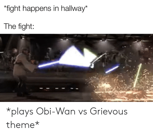 Fight Happens In Hallway The Fight Plays Obi Wan Vs Grievous