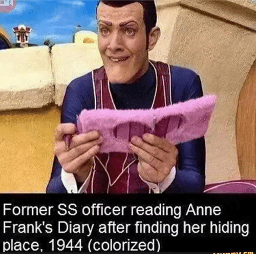Former Ss Officer Reading Anne Frank S Diary After Finding Her