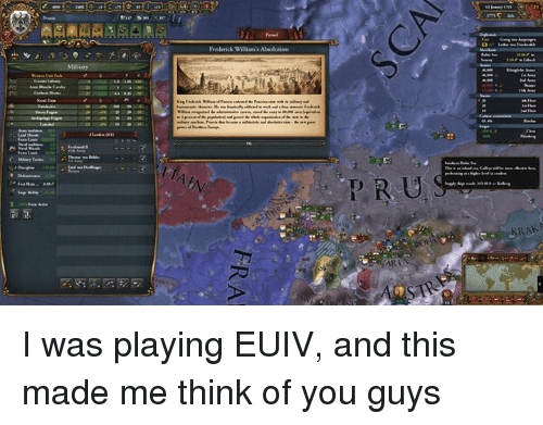 Frederick William S Absolutiem Ar I Was Playing Euiv And This Made