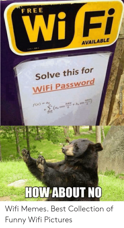 Free Wi Fi Available Me Solve This For Wifi Password Fx Ao By