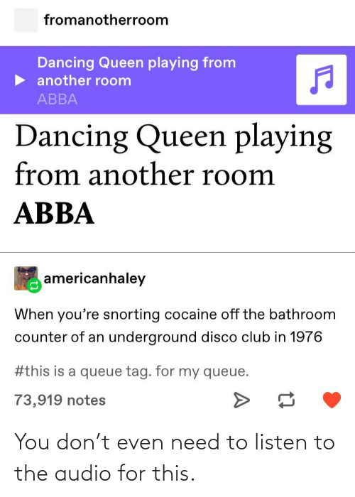 Fromanotherroom Dancing Queen Playing From Another Room Abba