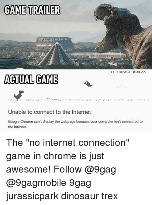 Chrome And His Offline T Rex T Rex Runner Know Your Meme