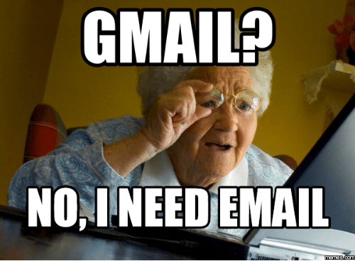 Gmail Noainee Demail Old Lady Computer Meme On Me Me