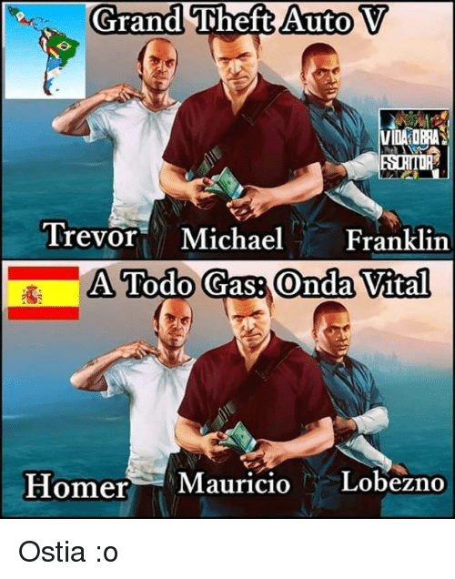 Grand Theft Auto V Trevor Michael Franklin A Todo Gas Onda Vital