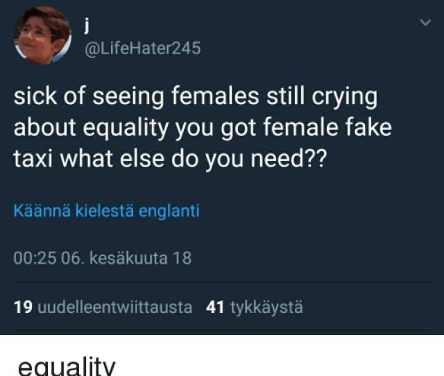 Crying Fake And Funny Gun Uddelleeritwiitla Lifehater Sick Of Seeing Females Still