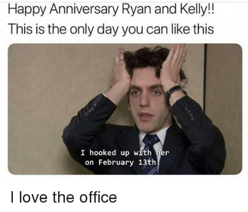 Happy Anniversary Ryan And Kelly This Is The Only Day You Can