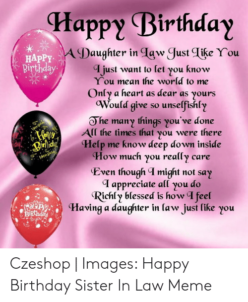 Happy Birthday A Daughter In Tgw Just Tike You I Just Want To Let You Know Happy Birthday You Mean The World To Me Only A Heart As Dear As Yours Would