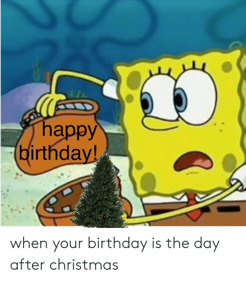 Happy Birthday When Your Birthday Is The Day After Christmas Birthday Meme On Me Me