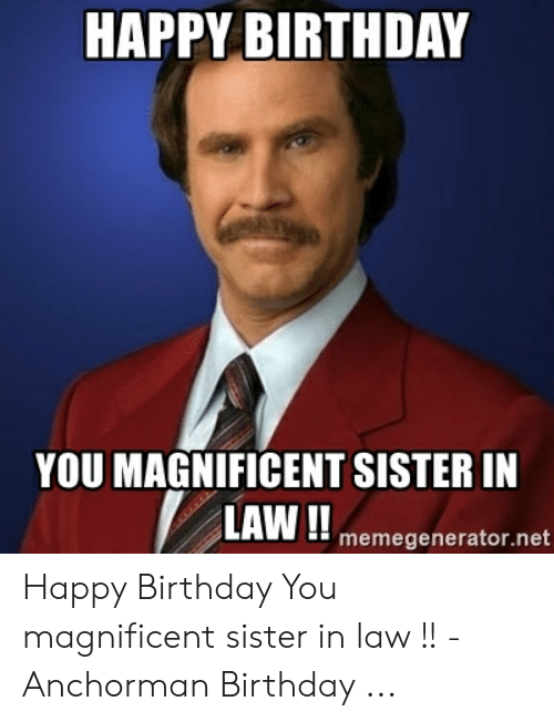 13 Funny Birthday Memes Sister In Law Factory Memes