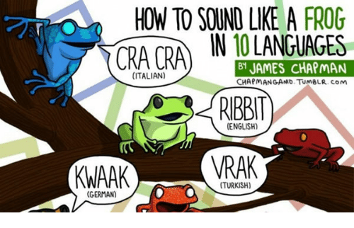 How To Sound Like A Frog Cra Cra In 81 James Chapman Italian