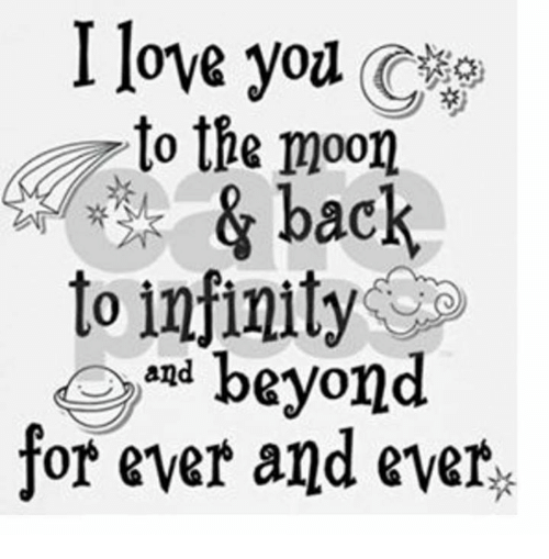Download I Love You to the Moon & Back to Infinity and Beyond for ...