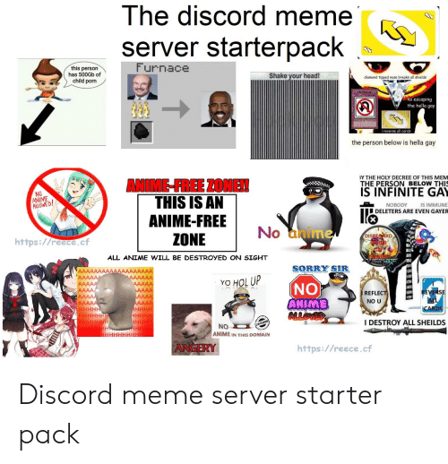 Ihe Discord Meme Server Starterpack This Person Has 500gb Of Child