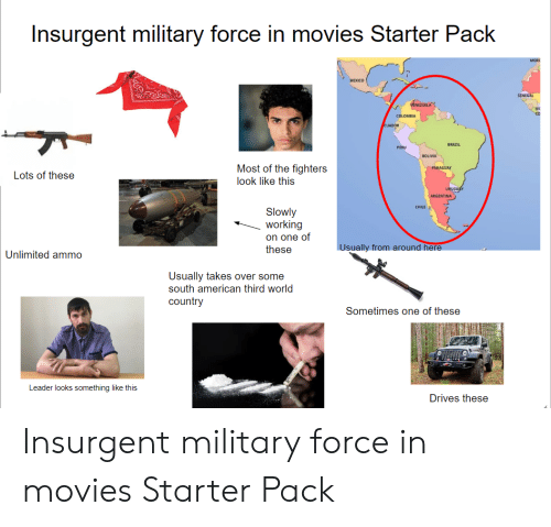 Insurgent Military Force In Movies Starter Pack Mexico Senegal