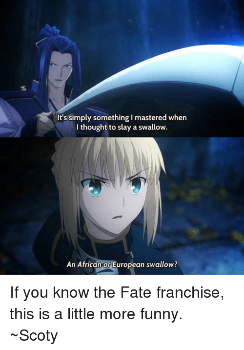 Picture Memes Kbwymqaj6 By Chivalry Ifunny Fate Anime