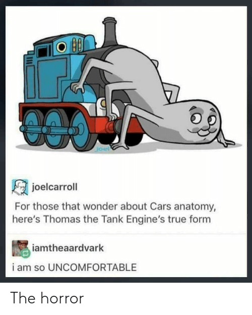 Joelcarroll For Those That Wonder About Cars Anatomy Here S Thomas