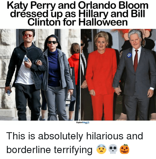 Katy Perry And Orlando Bloom Dressed Up Hillary And Bill Clinton