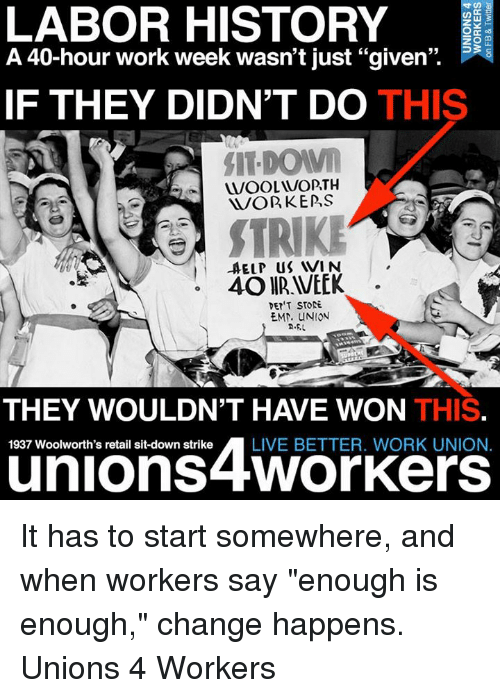 Labor History O A 40 Hour Work Week Wasn T Just Given If They
