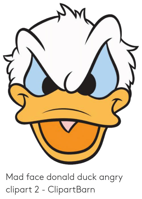 28 Collection Of Donald Duck Angry Clipart Otter Iphone X Disney