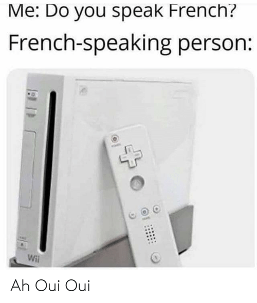 Me Do You Speak French French Speaking Person Will Ah Oui Oui French Meme On Me Me