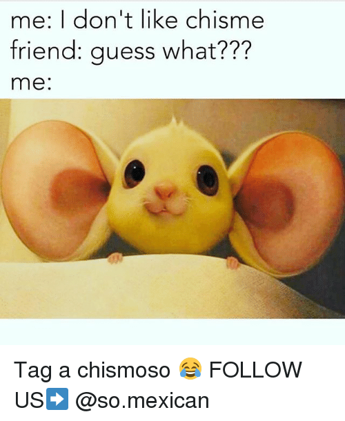 Me I M Not A Chismosa Lit Chisme Goes Down Also Me Being Latino