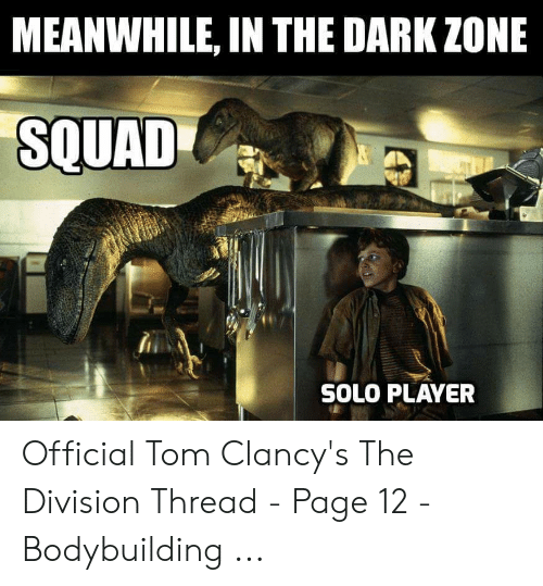 Meanwhile In The Dark Zone Souad Solo Player The Division Meme