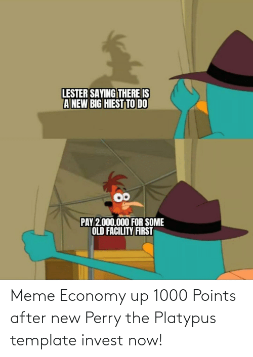 Meme Economy Up 1000 Points After New Perry The Platypus Template
