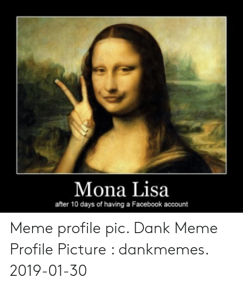 Mona Lisa After 10 Days Of Having A Facebook Account Meme Profile