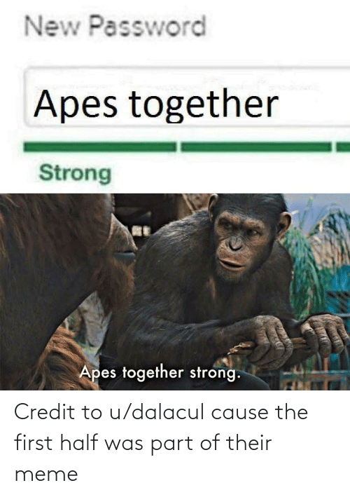 New Password Apes Together Strong Apes Together Strong Credit To