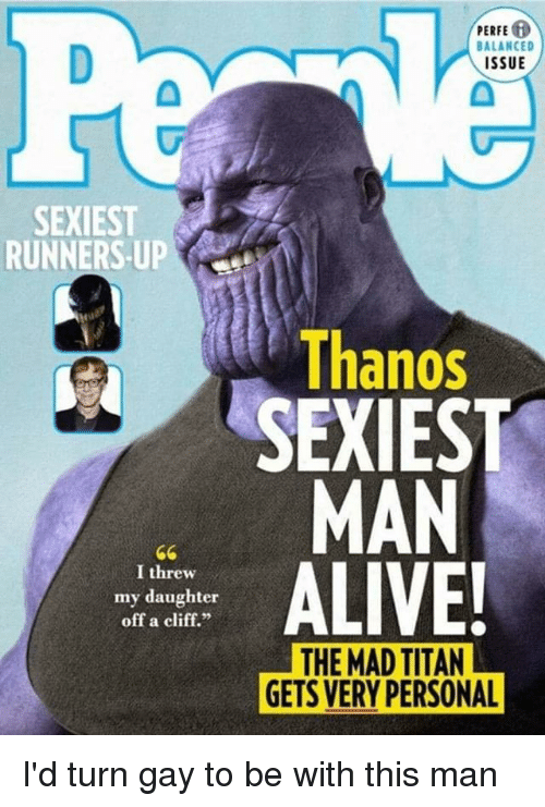 Funny Mad And Thanos Perfe Balanced Issue Sexiest Runners Up Thanos Sexiest
