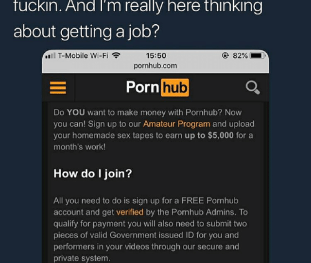 Money Porn Hub And Pornhub Pornhub Offering Up To 5k A Month For