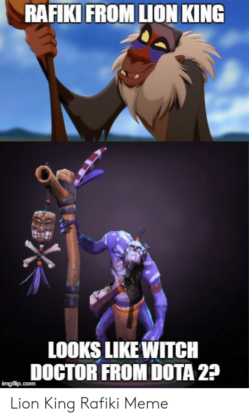 Rafiki From Lion King O Looks Like Witch Doctor From Dota 2