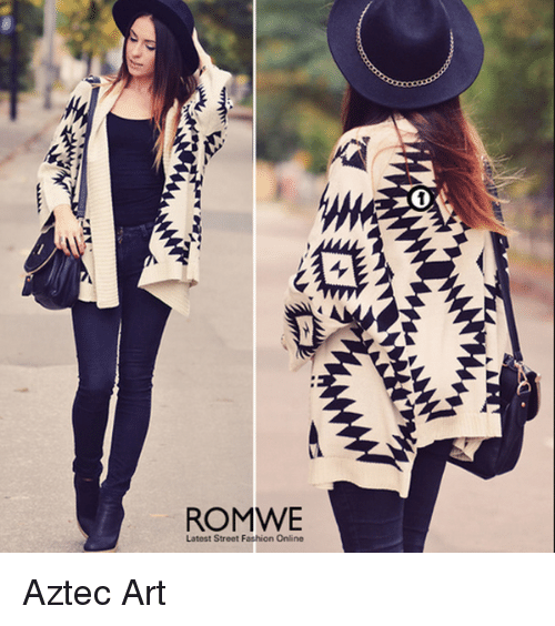 ROMWE Latest Street Fashion Online        Aztec Art   Meme on me me Memes  Aztec  and           ROMWE Latest Street Fashion Online        Aztec Art