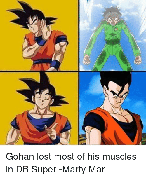 S Gohan Lost Most Of His Muscles In Db Super Marty Mar Gohan